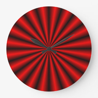 Red Metal Effect Optical Illusion Wall Clock