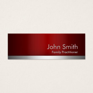 Red Metal Family Practitioner Business Card