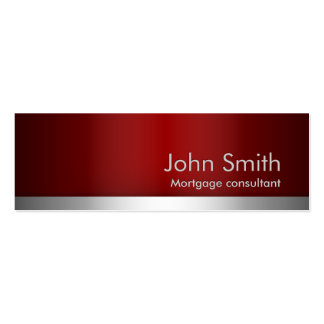Red Metal Mortgage Agent Business Card