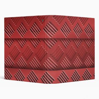 Red Metal Sheet 3 Ring Binder