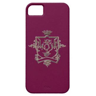 Red Metallic crest  Iphone 5 case
