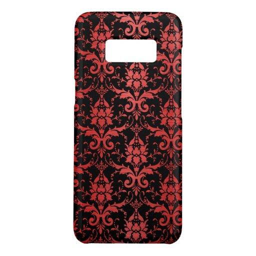 Red Metallic Damask on Black Case-Mate Samsung Galaxy S8 Case