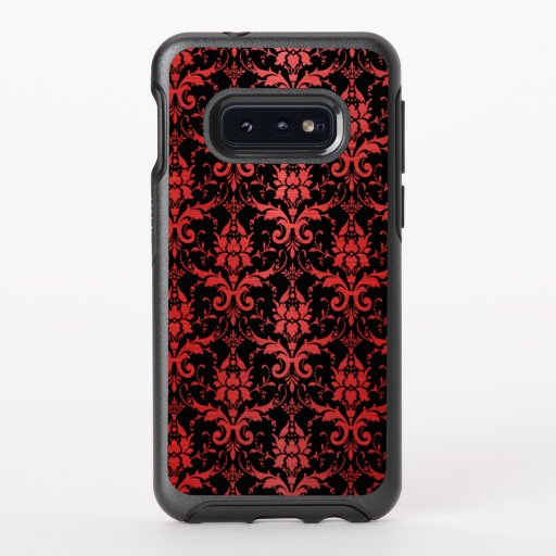 Red Metallic Damask on Black OtterBox Symmetry Samsung Galaxy S10e Case