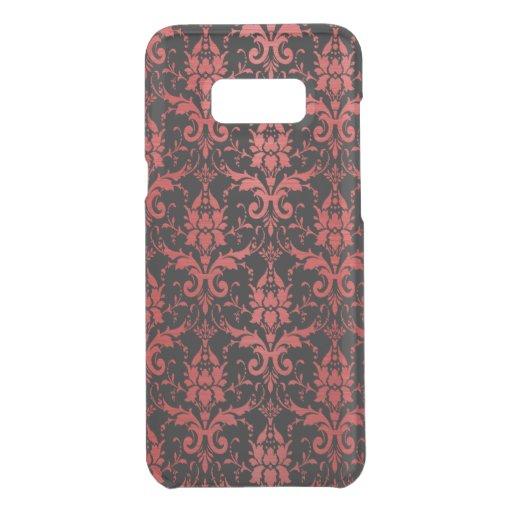 Red Metallic Damask on Black Uncommon Samsung Galaxy S8  Case