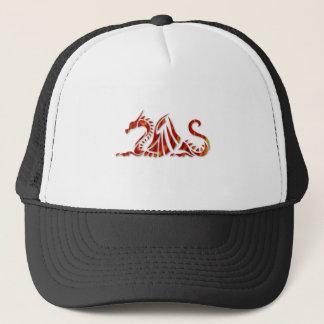 Red Metallic Dragon Trucker Hat