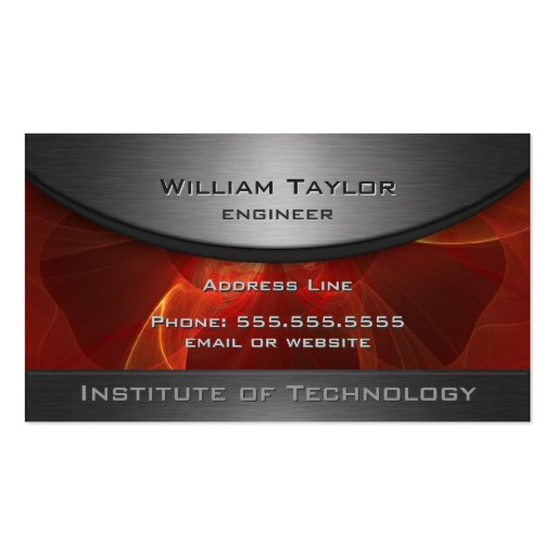 Red Metallic Elegance with QR code Business Card Templates