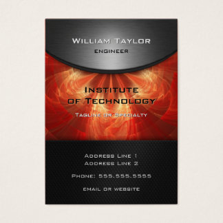 Red Metallic Elegance with QR code vertical Business Card