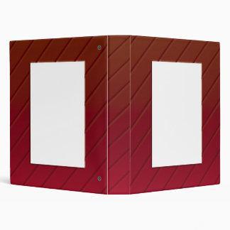 Red Metallic Frame Binder