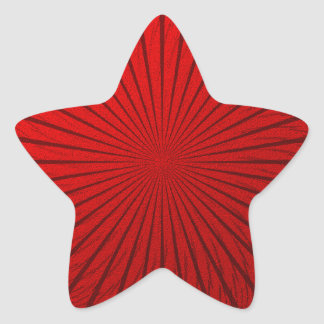 Red Metallic Illusion Star Sticker