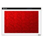 """Red Metallic Swirl 17"""" Laptop Skins"""