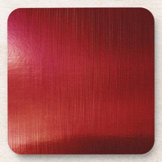 Red Metalline Sheen Beverage Coaster