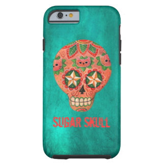 Red Mexican Sugar Skull Tough iPhone 6 Case