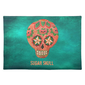 Red Mexican Sugar Skull Placemat