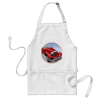 Red MG TD Adult Apron
