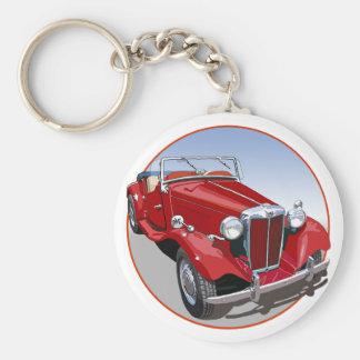 Red MG TD Keychain