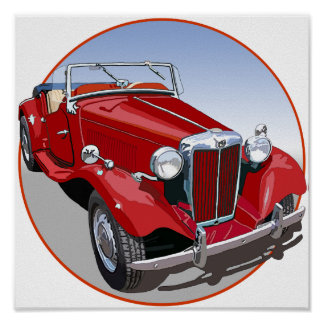 Red MG TD Poster