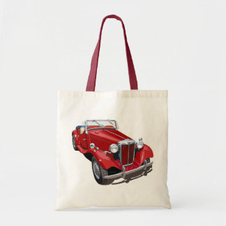 Red MG TD Tote Bag