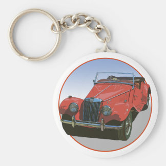 Red MG TF Keychain