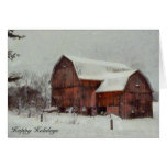 Red Michigan Barn Greeting Cards