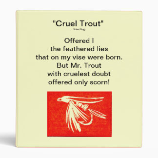 """Red Midge-Cruel Trout"" Fly Fishing Journal Binder"