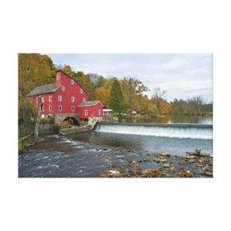"""Red Mill"" Clinton NJ Canvas Print"