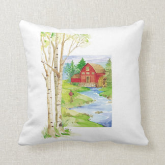 Red Mill - Throw Pillow