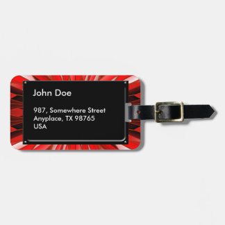 Red mineral bag tag