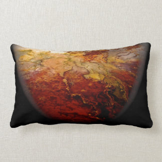 Red mineral deposits - decorative throw pillow