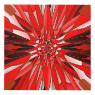 Red mineral panel wall art