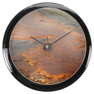 Red Mineral Water Yellowstone Park Fish Tank Clock
