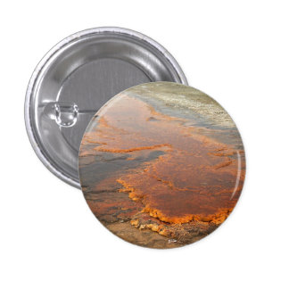 Red Mineral Water Yellowstone Park Button