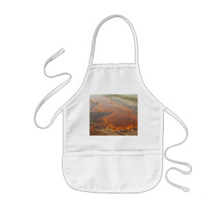 Red Mineral Water Yellowstone Park Kids' Apron