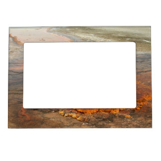 Red Mineral Water Yellowstone Park Magnetic Frame