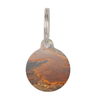 Red Mineral Water Yellowstone Park Pet ID Tags