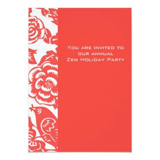 Red Ming Vase Pattern Card