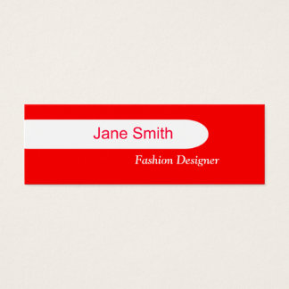 Red Mini Business Card
