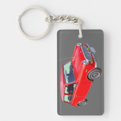 Classic Mini Cooper Car Black White Keyring Zazzle Com