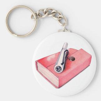 Red Mini Sketchbook Keychain