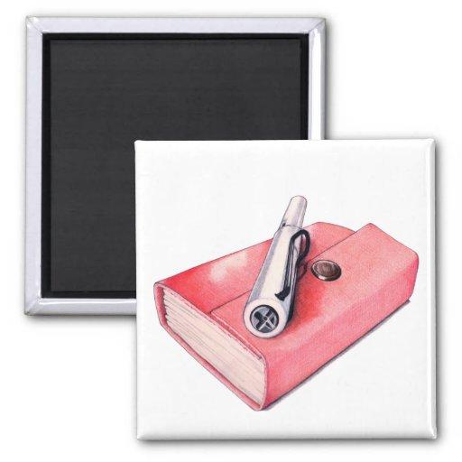 Red Mini Sketchbook Magnet
