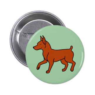Red Miniature Pinscher 2 Inch Round Button
