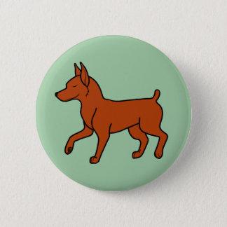 Red Miniature Pinscher Pinback Button