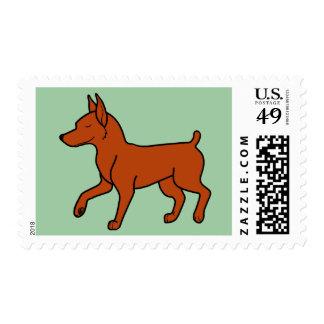Red Miniature Pinscher Postage Stamp