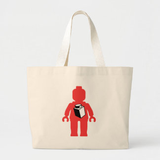 Red Minifig with 1 x 1 Brick Logo Canvas Bag