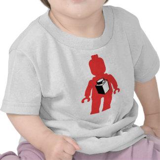 Red Minifig with 1 x 1 Brick Logo Tshirts