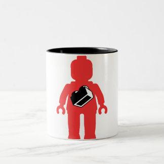 Red Minifig with 1 x 2 Brick Logo Coffee Mug