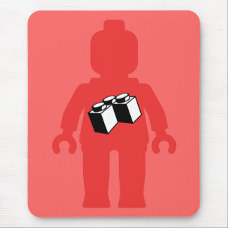 Red Minifig with 2 x 2 Corner Brick Logo Mouse Pad