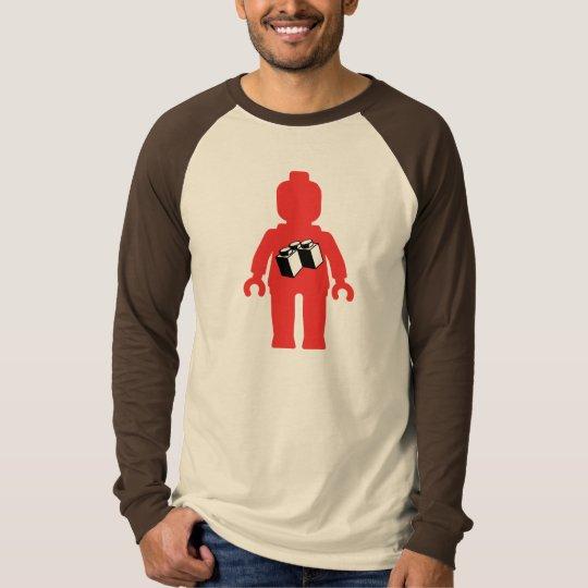Red Minifig with 2 x 2 Corner Brick Logo T-Shirt