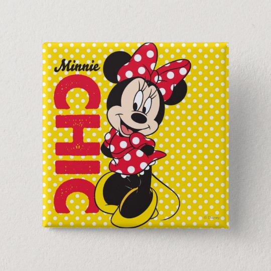 Red Minnie | Chic Pinback Button