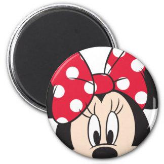 Red Minnie | Cute Closeup 2 Inch Round Magnet