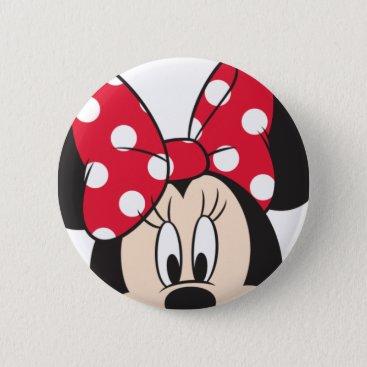Disney Themed Red Minnie | Cute Closeup Button